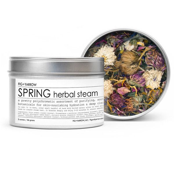 Spring Herbal Steam design by Fig and Yarrow ($26) ❤ liked on Polyvore featuring beauty products, skincare, face care and spa essentials