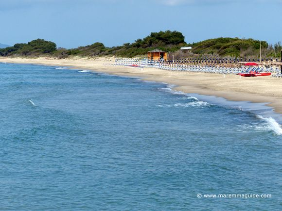 Best Maremma beaches: Carbonifera beach in the Gulf of Follonica Tuscany in May