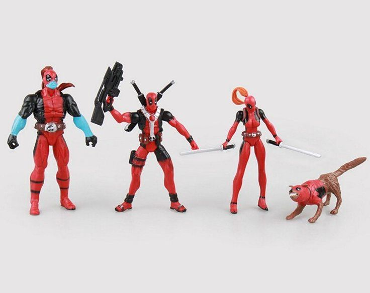 Lot of 4 Deadpool Corps Champion Dogpool Lady Deadpool Figures New in Box Gift #Unbranded