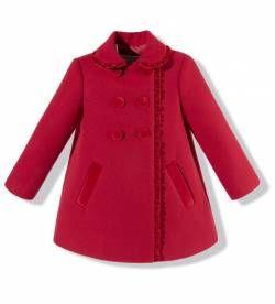 Abrigo para niña rojo