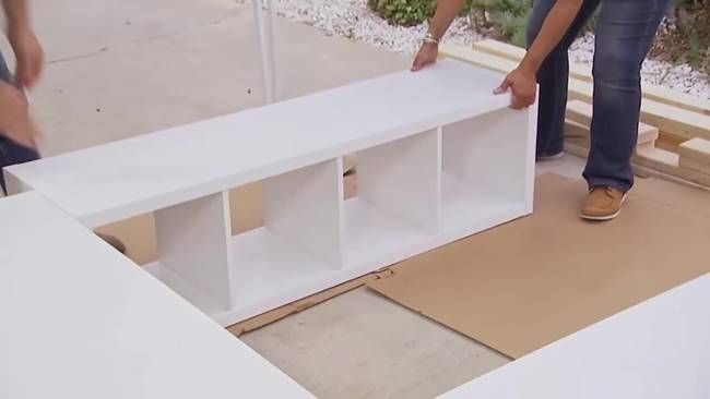 Creative Ideas - How to Build a Platform Bed with Storage #furniture #bed #space-saving