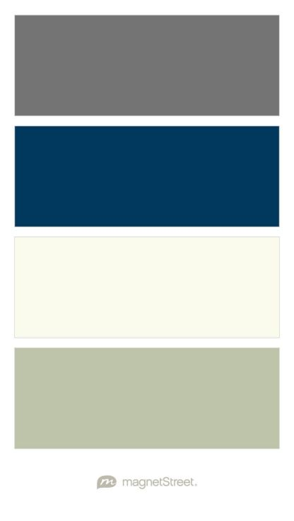 Charcoal, Navy, Ivory, and Sage Wedding Color Palette - custom color palette created at MagnetStreet.com