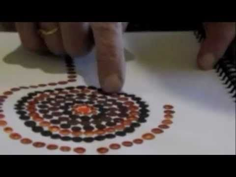 How to teach dot painting to kids.m4v - YouTube