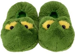 Homesense Footwear Fuzzy Green Frog House/Bedroom Slippers