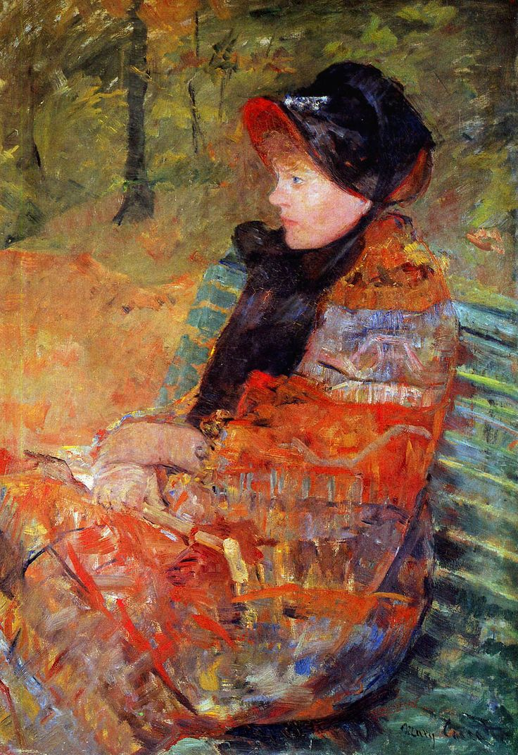 urgetocreate:Mary Cassatt, Portrait of Mlle. C. Lydia Cassatt, 1880