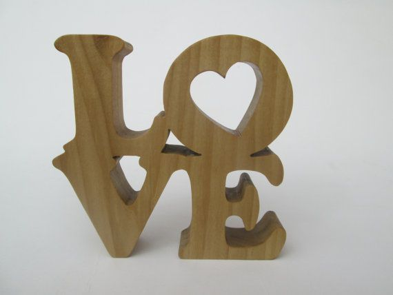 Love Sign  freestanding scroll saw cut from by ScrollOnDesigns
