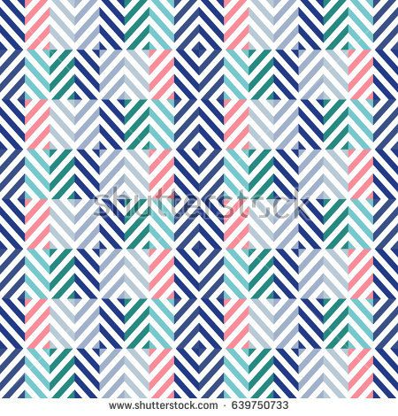 Vector seamless creative pattern with geometric composition in modern abstract style. Background for printing brochure, poster, textile, card, web, magazines, wallpapers.