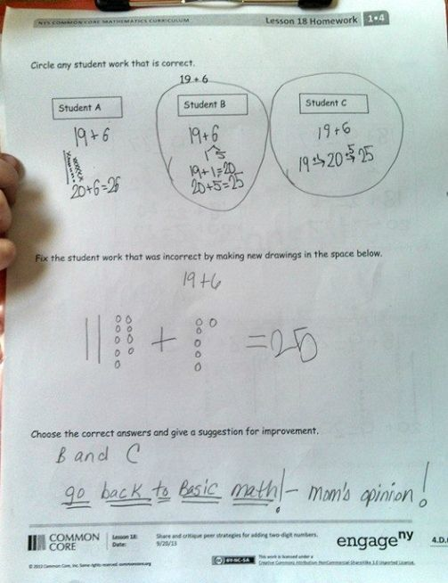 This mom obliterates bizarre Common Core math question  Read more: http://dailycaller.com/2014/04/24/this-mom-obliterates-bizarre-common-core-math-question/#ixzz2zqvcDt2i STOP COMMON CORE!