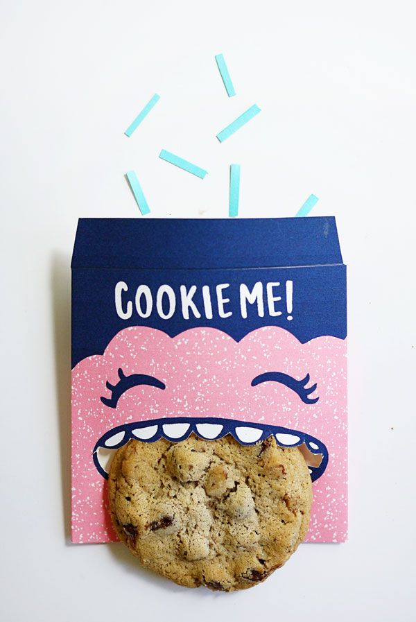 DIY: cookie monster favor bags