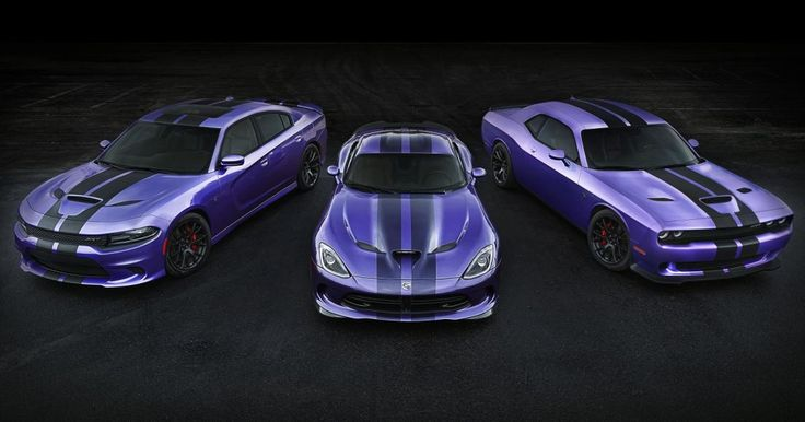 2016 Challenger and Charger SRT Hellcat Models Earn Exclusive Stripes, Dodge Extends Plum Crazy Paint