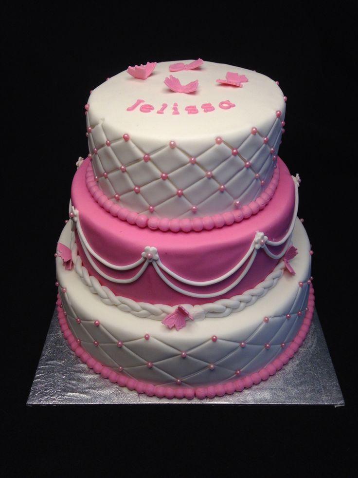 Roze meisjes taart