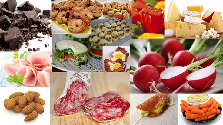Tussendoortjes passend in een koolhydraat arme eetwijze of dieet. Onderdeel van een week menu.
