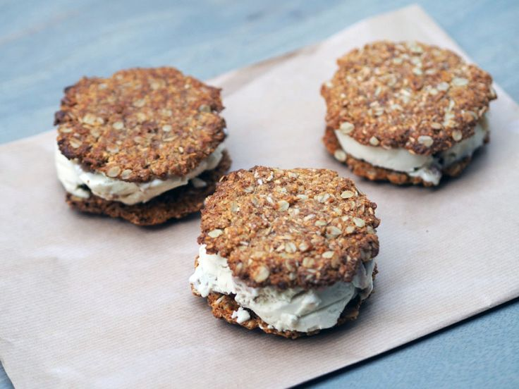 Anzac biscuits Ice cream sandwich cookies | Pure Harvest   Fancy an Anzac biscuit but with an added boost? We paired our favourite vegan ice …