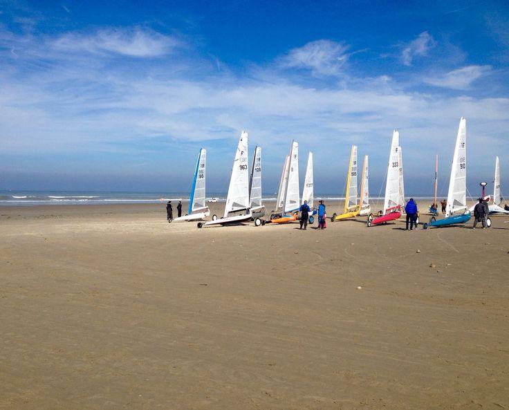 Char à voile à Sainte Cecile plage