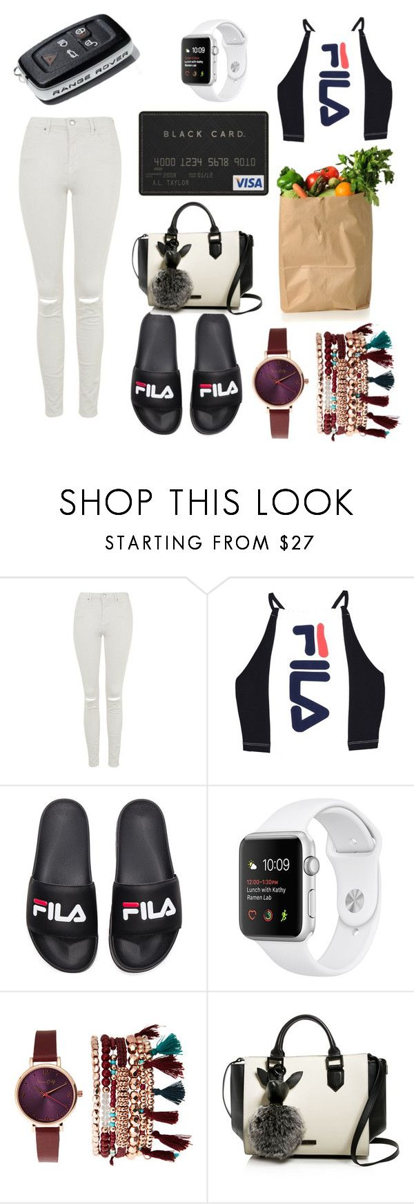 """""""market run"""" by yeah-dhat-shay on Polyvore featuring Topshop, Fila, Jessica Carlyle and Kendall + Kylie"""