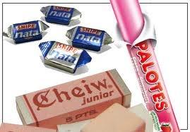 Caramelos de nata 1 Pts.  Cuba Libres 1 Pts.  Chicle Cheiw 5 Pts.
