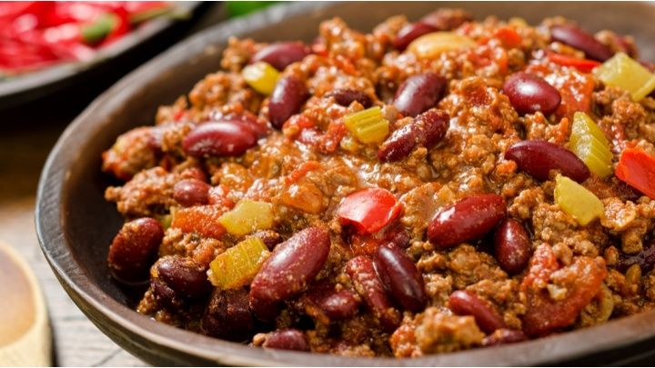 A traditional chilli con carne dish with beef or turkey mince, all cooked in one pot...