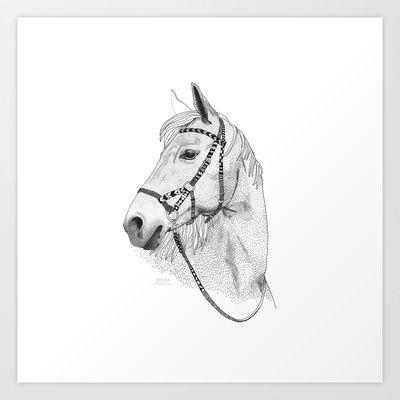 Inka horse Art Print by Vibeke hoie - $16.00