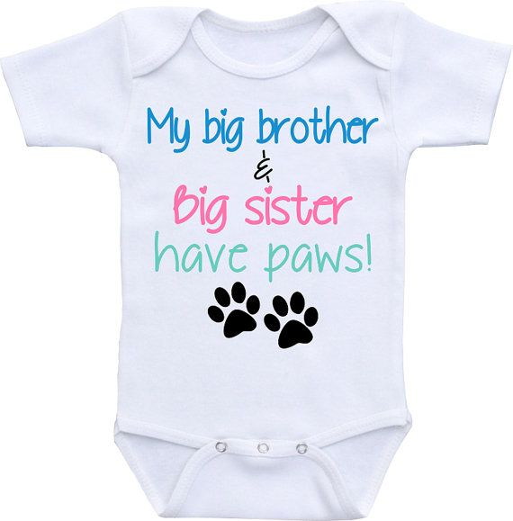 My Big Brother & Big Sister have paws dog onesie ® by clippycabin
