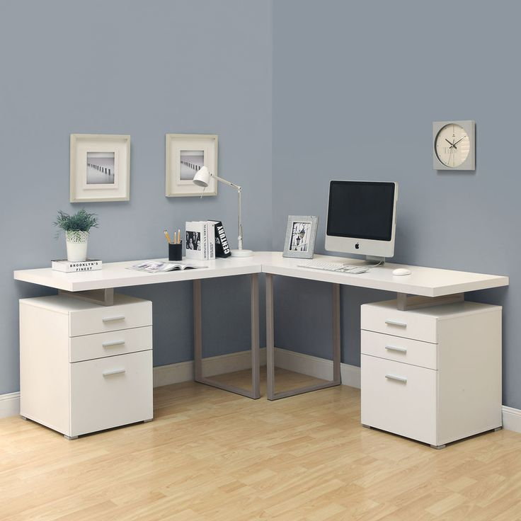 Shop Monarch Specialties Hollow Core L Shaped Desk At Lowe