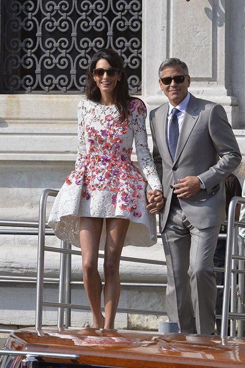 Amal Alamuddin's perfect post-wedding #GiambattistaValli dress | Brides.com