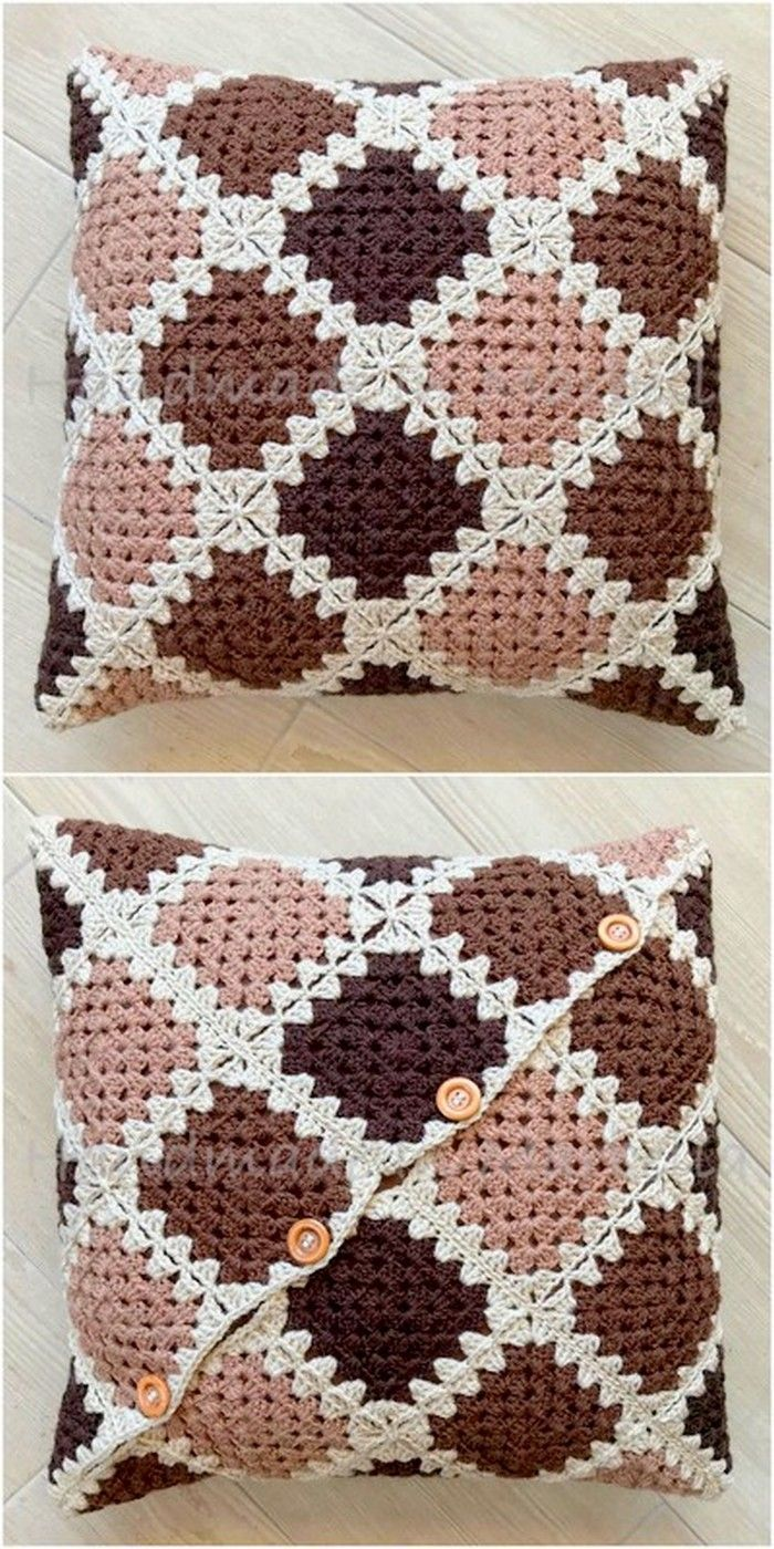 interesting crochet cushion cover –