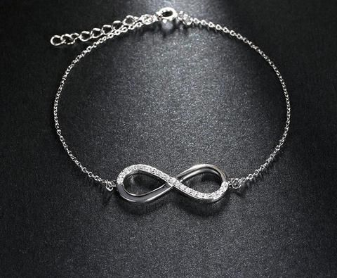 7403bd0bd7f Women's Silver Color Bracelet With AAA Brilliant Austrian CZ Infinity  Design Fashion Female Simple Ideas Outfit Statement Wedding Ideas Jewellery  Jewels ...