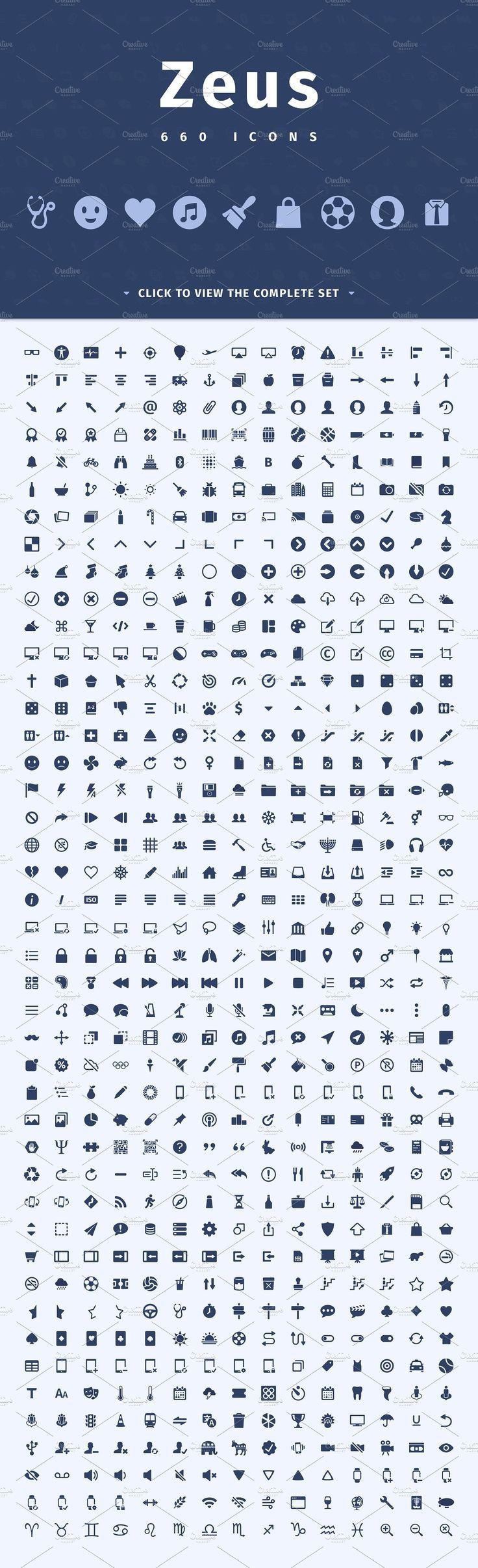 Zeus - 660 Icons Set by XusBadia on @creativemarket