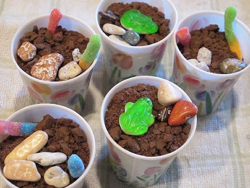 Dirt Cup Snack- clever rocks!