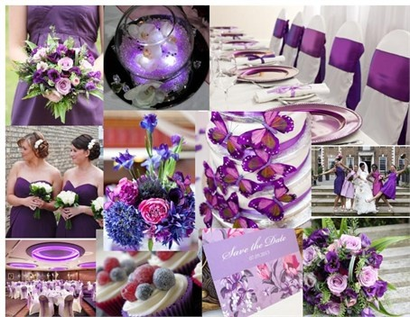 Image detail for -Pretty Purple Theme for Summer Wedding 2013, blue, white, butterflies