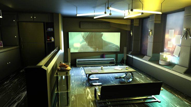 cyberpunk style interior by 100redeye.deviantart.com on @DeviantArt