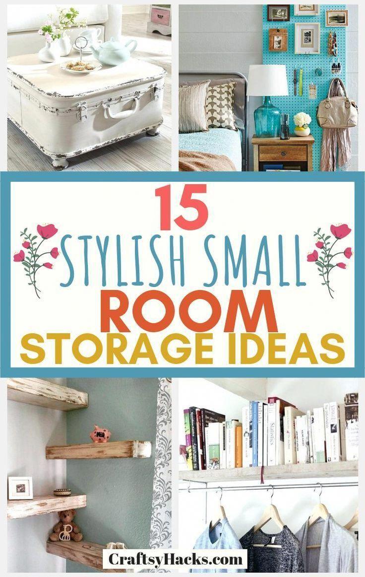 15 Stylish Small Room Storage Hacks Small Room Storage Small Room Organization Small Space Clothing Storage