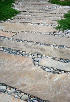 Natural stone path.