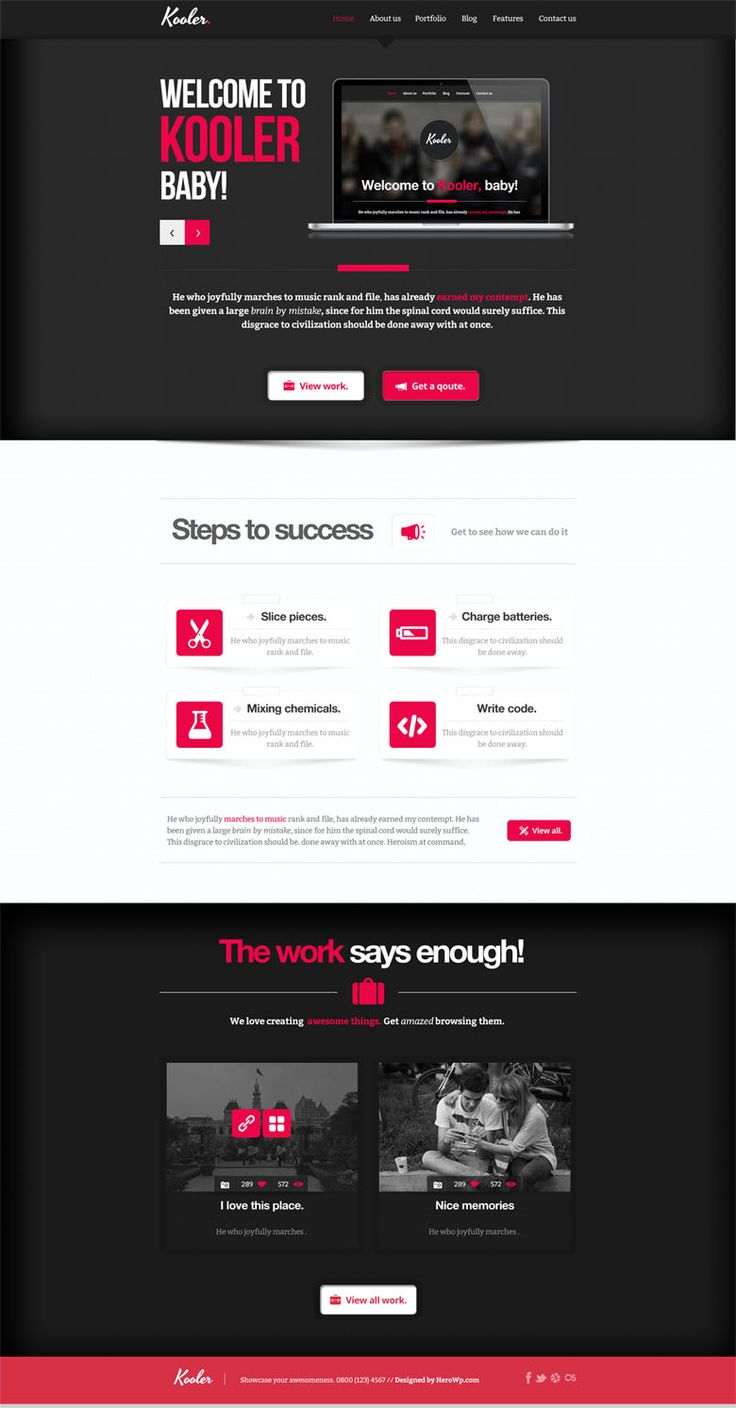 The 647 best Free psd template webdesign / Website images on ...