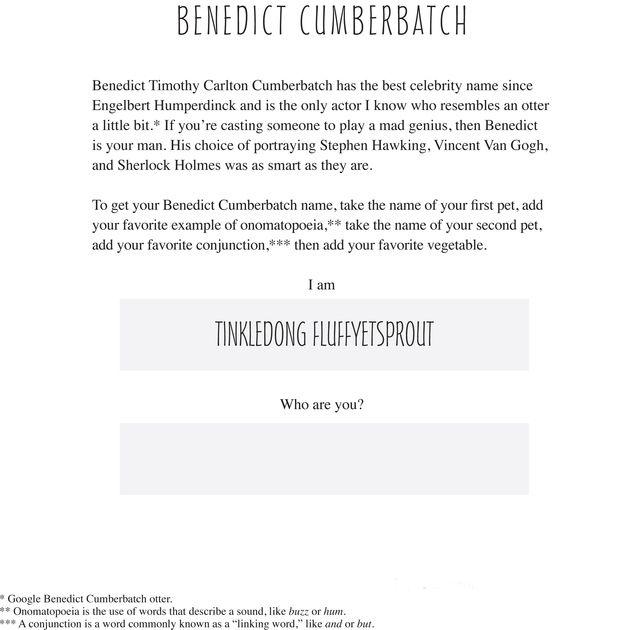 Benedict Cumberbatch T... Benedict Cumberbatch Name