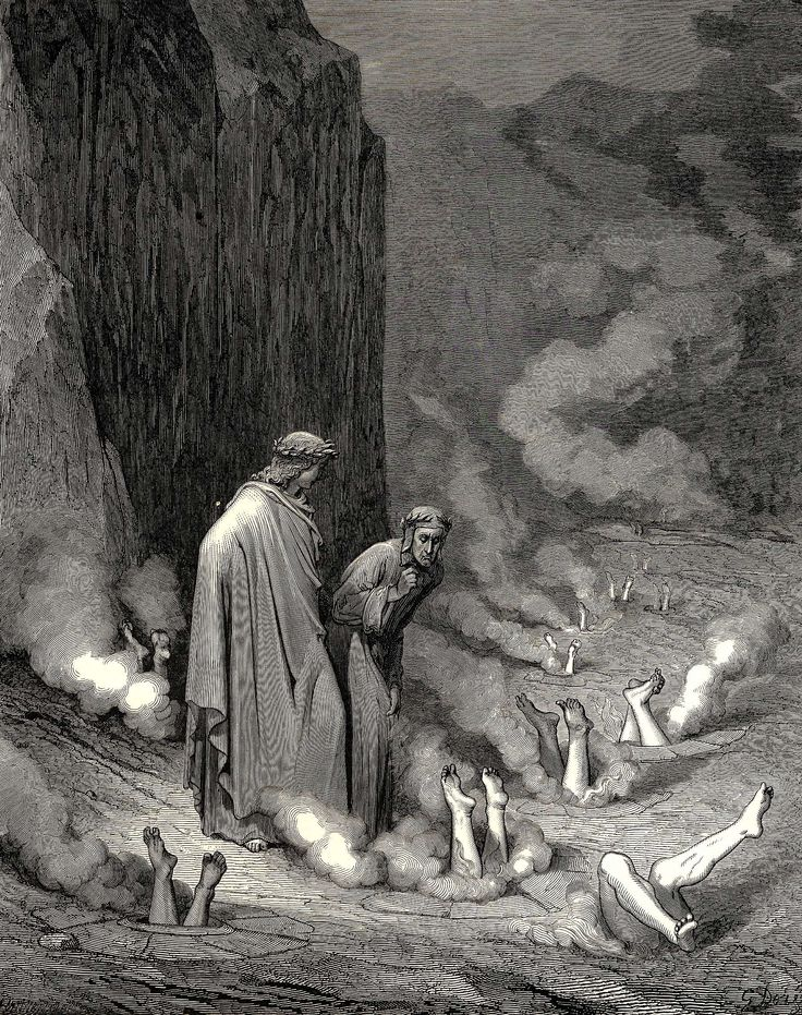 Divine Comedy III : Gustave Dore - art of the beautiful-grotesque (watch this in real size -so many details!!)