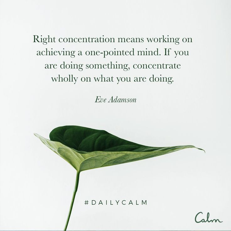 To truly be present one must concentrate on one thing at a time.