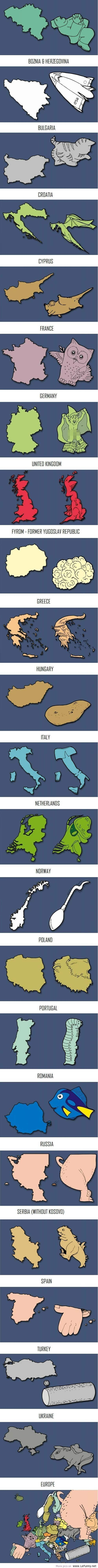 Funny Europe according to creative people