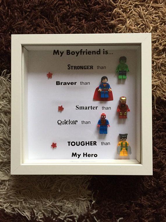 Superhero Frame by MamasLittleGiftShop on Etsy – Diy valentine gifts for boyfriends – #on #boyfriend #DIY #Etsy #Frame