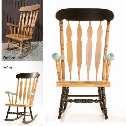 How to: upcycle a timber rocking chair - Reno Addict