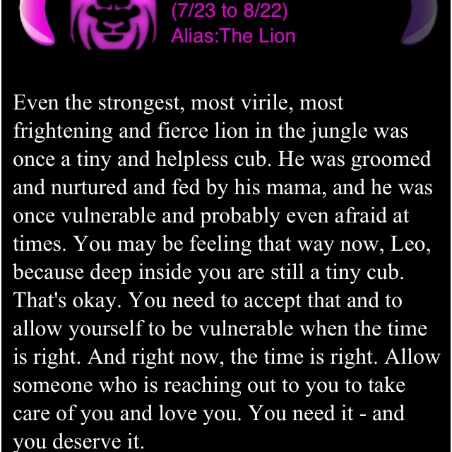My Leo Horoscope for today <3 Abbey <3333