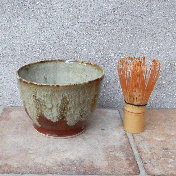 Matcha chawan..... tea bowl ...... wheel thrown stoneware pottery