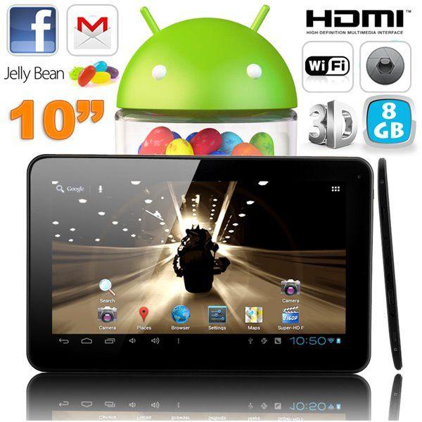Tablette tactile 10 pouces capacitif Android 4.2 HDMI 3D Blanc. http://www.yonis-shop.com/tablette-tactile-10-pouces/575-tablette-tactile-10-pouces-capacitif-android-4-2-hdmi-3d-8-go-blanc.html