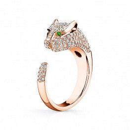 Anita Ko Panther Ring With Diamonds