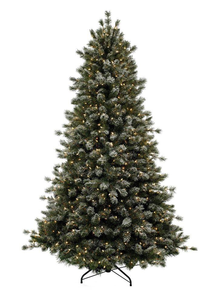 Frosted Sugar Pine Artificial Christmas Trees Online - Balsam Hill