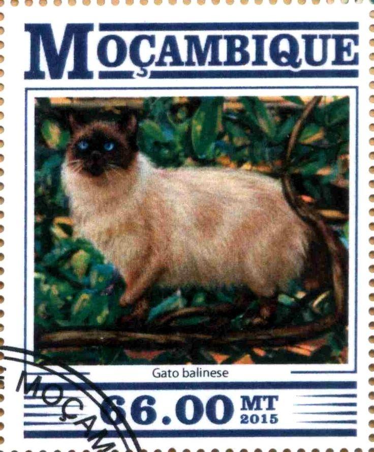Stamp: Gato balinese (Mozambique) Col:MZ 15307a2