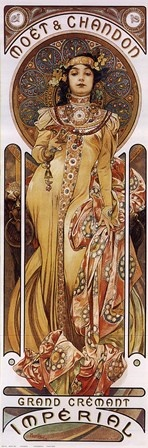 Moet & Chandon by Alphonse Mucha #art #nouveau
