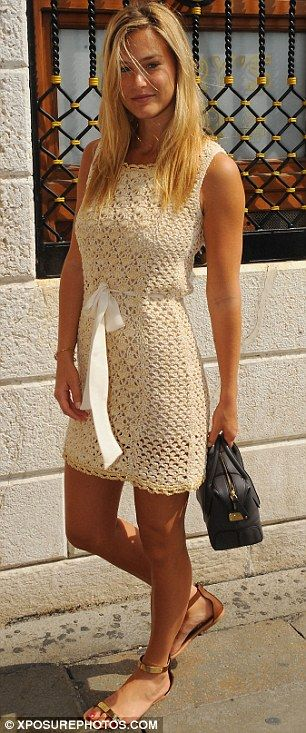 crocheted dress... I want to make something like this... Some day...