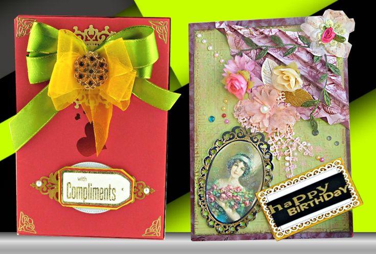 Geburtstagskarte. Retro-Geschmack, Mixed-Media-Karte für die Frau. Mama. Frau. Braut. Freundin. Individuelle, personalisierte, Boxed Karte für besondere Anlässe