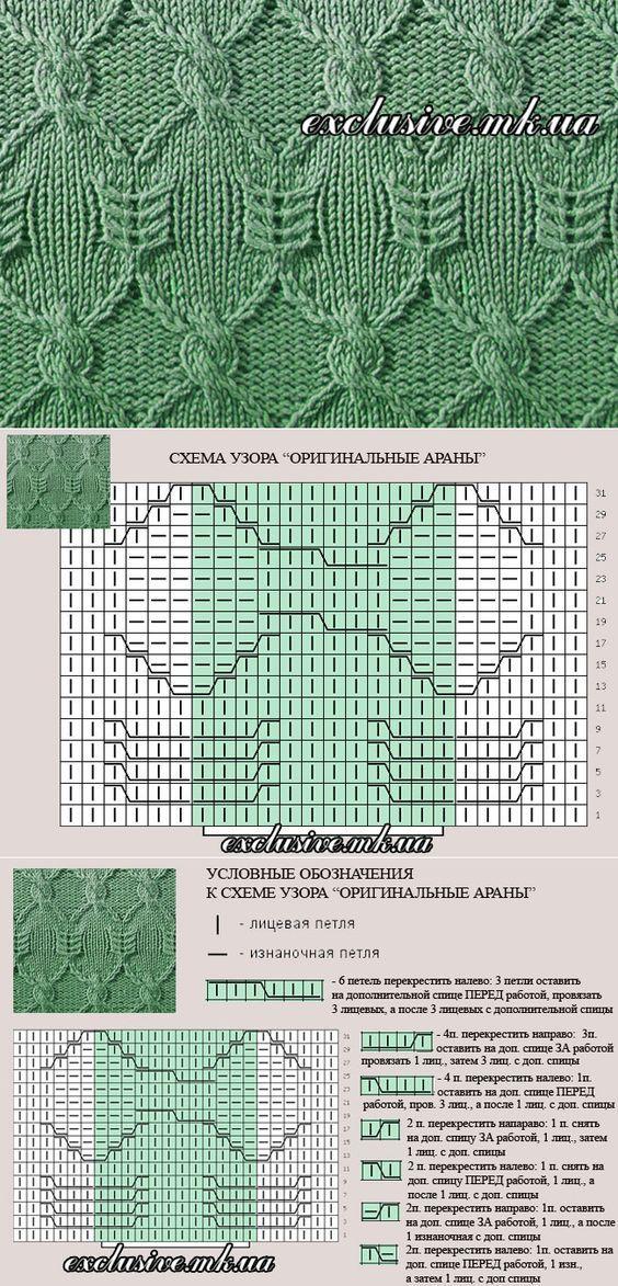 Узор 26 оригинальные араны | Салон эксклюзивного вязания